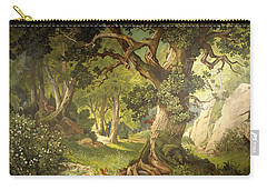 The Garden Of The Magician Klingsor, From The Parzival Cycle, Great Music Room Carry-all Pouch by Christian Jank