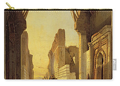 The Gates Of El Geber In Morocco Carry-all Pouch by Francois Antoine Bossuet