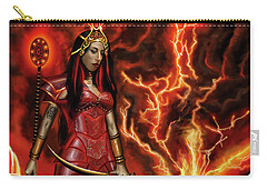 The Goodess Pele Of Hawaii Carry-all Pouch by James Christopher Hill