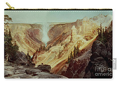 The Grand Canyon Of The Yellowstone Carry-all Pouch by Thomas Moran