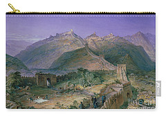 The Great Wall Of China Carry-all Pouch by William Simpson