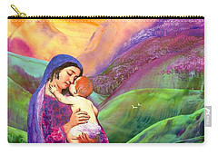 Virgin Mary And Baby Jesus, The Greatest Gift Carry-all Pouch by Jane Small