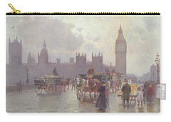 The Houses Of Parliament From Westminster Bridge Carry-all Pouch by Alberto Pisa