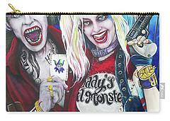 The Joker And Harley Quinn Carry-all Pouch by Michael Vanderhoof