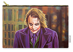 The Joker In Batman  Carry-all Pouch by Paul Meijering