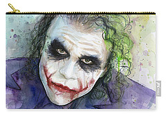 The Joker Watercolor Carry-all Pouch by Olga Shvartsur