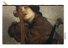The Little Violinist Sleeping Carry-all Pouch by Antoine Auguste Ernest Hebert