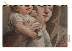 The Madonna And Child With A Goldfinch Carry-all Pouch by Tiepolo