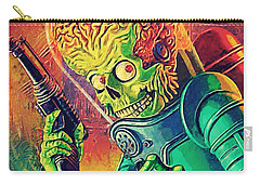 The Martian - Mars Attacks Carry-all Pouch by Taylan Apukovska