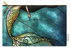 The Mermaid Carry-all Pouch by Mandie Manzano