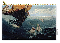 The Mermaid's Rock Carry-all Pouch by Edward Matthew Hale