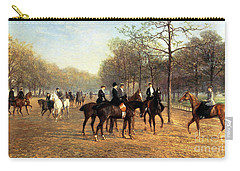 The Morning Ride Rotten Row Hyde Park Carry-all Pouch by Heywood Hardy