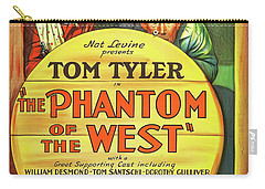 The Phantom Of The West 1931 Carry-all Pouch by Mountain Dreams