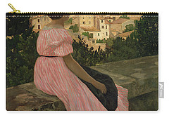 The Pink Dress Carry-all Pouch by Jean Frederic Bazille