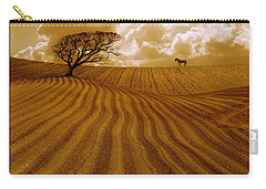 The Ploughed Field Carry-all Pouch by Mal Bray