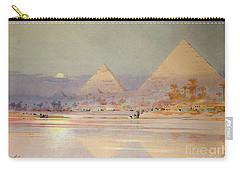 The Pyramids At Dusk Carry-all Pouch by Augustus Osborne Lamplough
