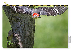 The Red Bellied Woodpecker Carry-all Pouch by Bill Wakeley