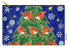 The Robins Chorus Carry-all Pouch by Cathy Baxter
