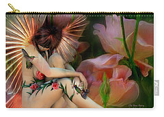 The Rose Fairy Carry-all Pouch by Carol Cavalaris