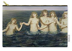 The Sea Maidens Carry-all Pouch by Evelyn De Morgan