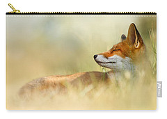 The Sleeping Beauty - Wild Red Fox Carry-all Pouch by Roeselien Raimond