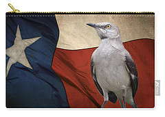 The State Bird Of Texas Carry-all Pouch by David and Carol Kelly
