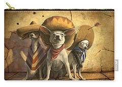 The Three Banditos Carry-all Pouch by Sean ODaniels
