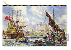 The Tower Of London In The Late 17th Century  Carry-all Pouch by English School