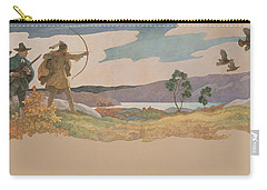 The Turkey Hunters Carry-all Pouch by Newell Convers Wyeth