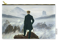 The Wanderer Above The Sea Of Fog Carry-all Pouch by Caspar David Friedrich