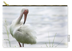 The White Ibis  Carry-all Pouch by Saija  Lehtonen