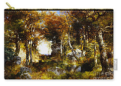 The Woodland Pool Carry-all Pouch by Thomas Moran
