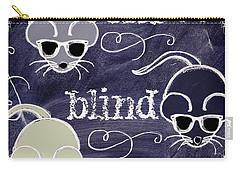 Three Blind Mice Children Chalk Art Carry-all Pouch by Mindy Sommers