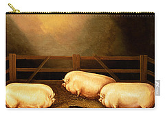 Three Prize Pigs Carry-all Pouch by English School