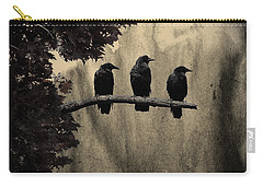 Three Ravens Carry-all Pouch by Gothicrow Images