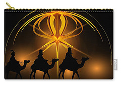 Three Wise Men Christmas Card Carry-all Pouch by Bellesouth Studio