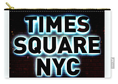 Times Square 4 Carry-all Pouch by NDM Digital Art