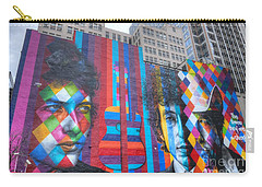 Times They Are A Changing Giant Bob Dylan Mural Minneapolis Cityscape Carry-all Pouch by Wayne Moran