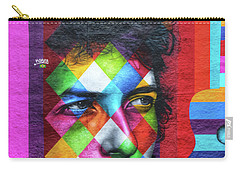 Times They Are A Changing Giant Bob Dylan Mural Minneapolis Detail 1 Carry-all Pouch by Wayne Moran