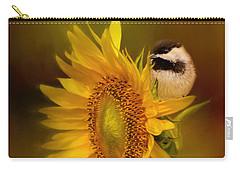 Tiny Surprise Bird Art Carry-all Pouch by Jai Johnson