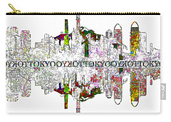 Tokyo Skyline On White Carry-all Pouch by John Groves