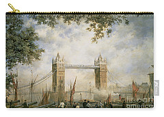 Tower Bridge - From The Tower Of London Carry-all Pouch by Richard Willis