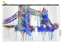 Tower Bridge Watercolor Carry-all Pouch by Marian Voicu