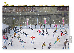 Tower Of London Ice Rink Carry-all Pouch by Andrew Macara