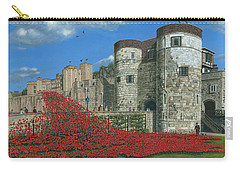 Tower Of London Poppies - Blood Swept Lands And Seas Of Red  Carry-all Pouch by Richard Harpum
