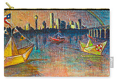 Trinity River Origami Carry-all Pouch by Tanya Joiner Slate