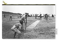Troops Playing Cricket Carry-all Pouch by Underwood Archives