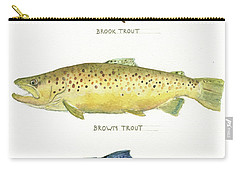 Trout Species Carry-all Pouch by Juan Bosco