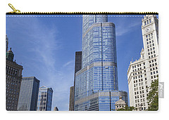 Trump Tower Chicago Carry-all Pouch by Adam Romanowicz