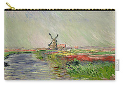 Tulip Field In Holland Carry-all Pouch by Claude Monet